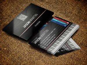 Free Musician Business Card PSD Template