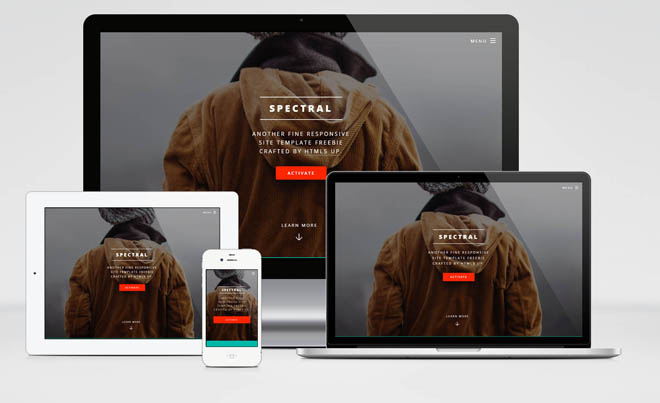 Spectral : Free Responsive HTML5 template