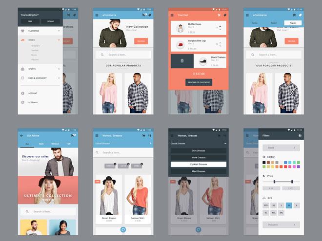 Materia : Free Ecommerce Mobile UI Kit