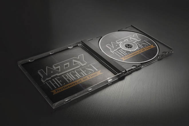 Free Photorealistic CD Cover Mockup PSD