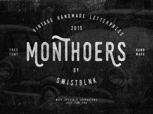 Swistblnk Monthoers Free Handmade Font