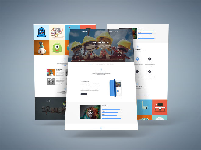 Bolod : Free One Page Portfolio PSD Template