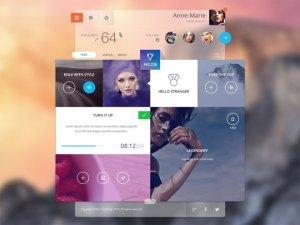 Free Challenges App UI Design PSD