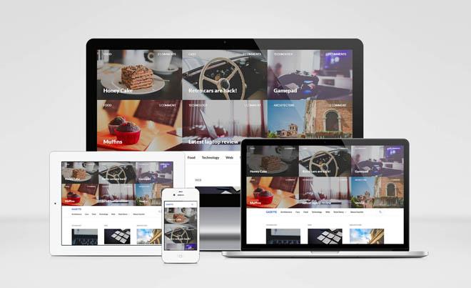 Gazette : Free Grid Magazine WordPress Theme