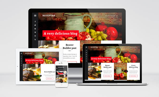 Receptar : Free Responsive Recipe Blogging WordPress Theme