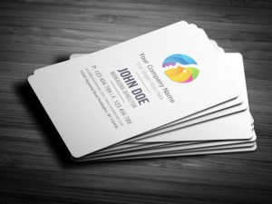 free round edge business card template