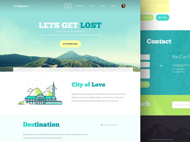 Free Travel PSD Template