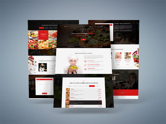 Zupa : Free Restaurant PSD Template