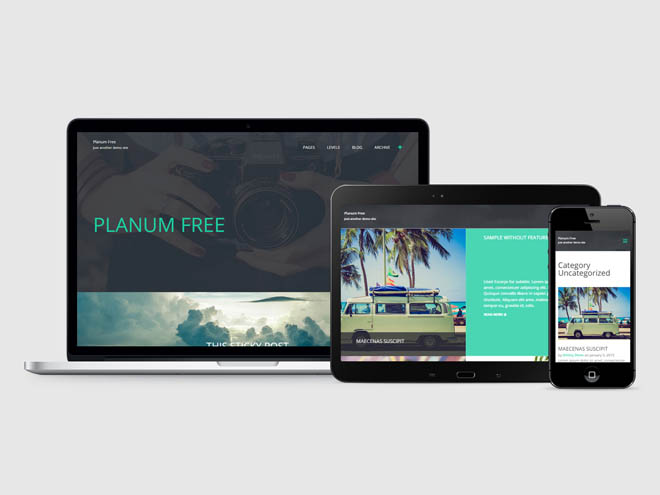 Planum : Free Full-Screen Blogging WordPress Theme