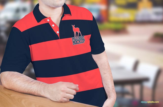 Free Polo Shirt Mockup PSD