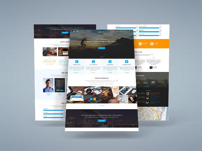Mylab – Responsive PSD Web Template