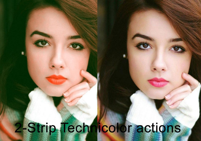 2-strip Technicolor Photoshop Action