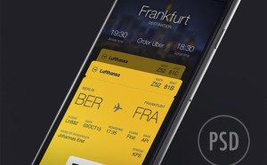 Boarding Pass App UI Design (PSD)