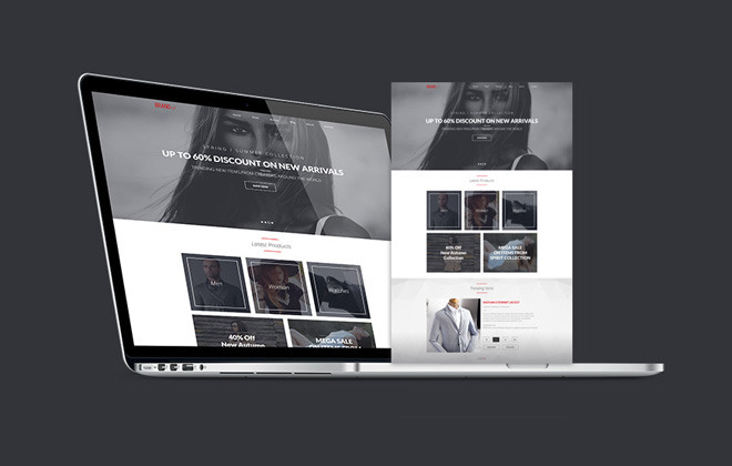 Brandly : Free Stylish PSD Website Template
