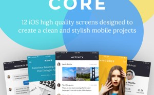 CORE : Free iOS App UI Kit