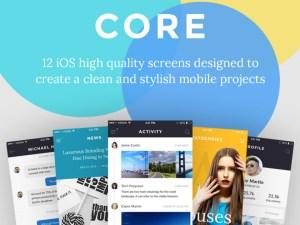 CORE : Free iOS App UI Kit