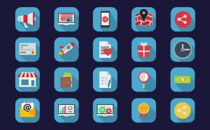 Free Colourful Flat Icon Set