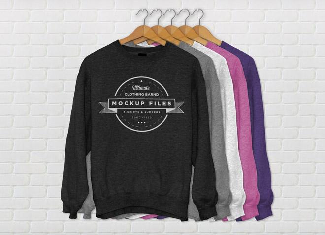 Free Jumper Mockup for Clothing Designer