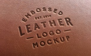 Free Leather Logo MockUp PSD