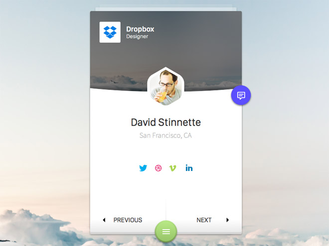 User Profile UI (Sketch)
