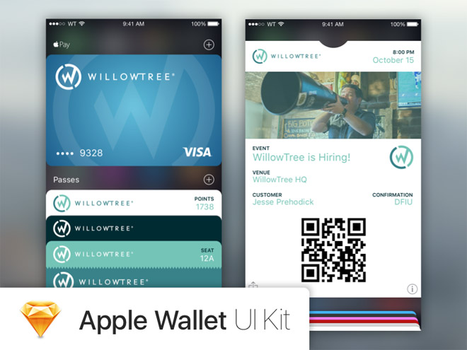 Apple Wallet UI Kit (Sketch)