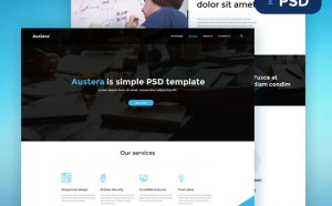 Austera : Free PSD template for Small Business