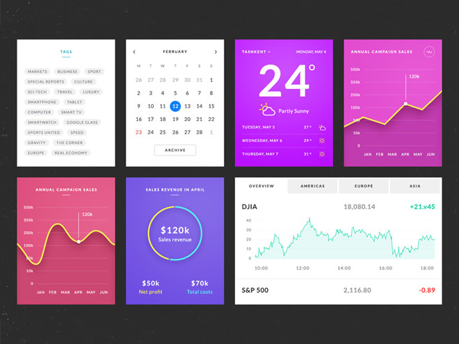 Azure : Free Stylish UI Kit