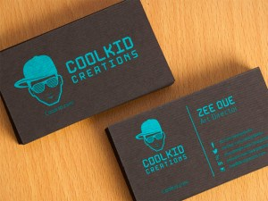 Black Textured Business Card Template