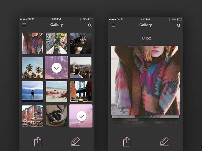 Cardzz : Mobile IOS UI Kit PSD