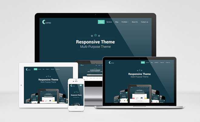 Corpbiz : Free Responsive Multi-purpose Wordpress Theme