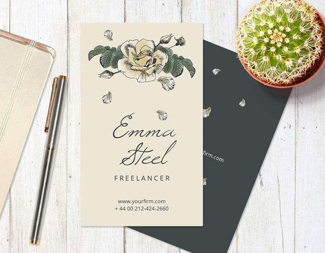 Florist Business Card Template