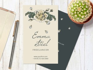 Florist Business Card Template