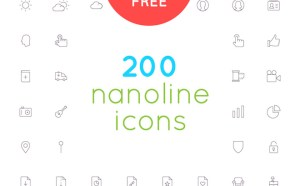 Nanoline : 200 Free Vector Line Icons