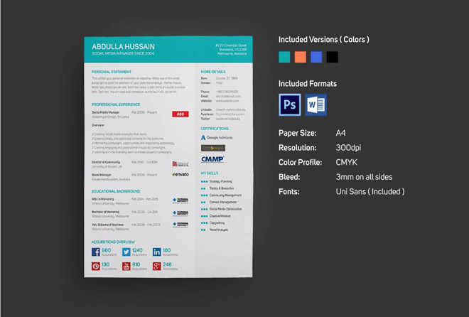 Free Resume Template for Social Media Specialist