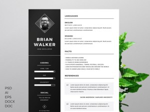 Free Resume Template (DOC, PSD and AI)