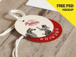 Free Round Label Mockup PSD