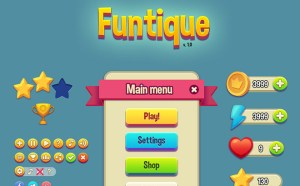 Funtique : Free Game UI Kit PSD