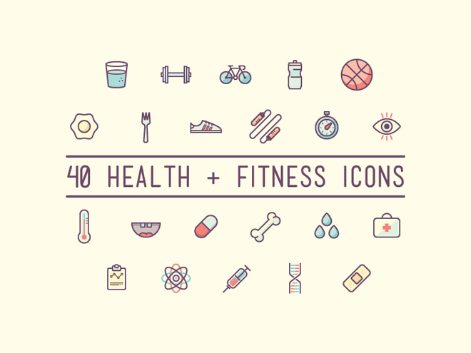 Health and Fitness Icons
