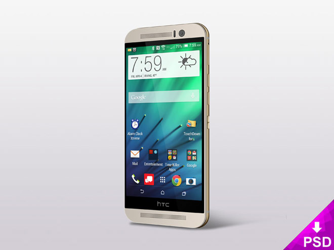 Free HTC One (M8) Mockup PSD