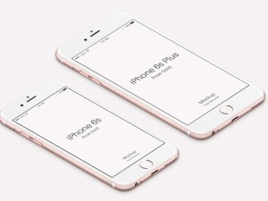 free iPhone 6s Rose Gold Mockup PSD
