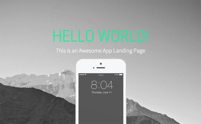 Landy : Free iOS App Landing Page Template