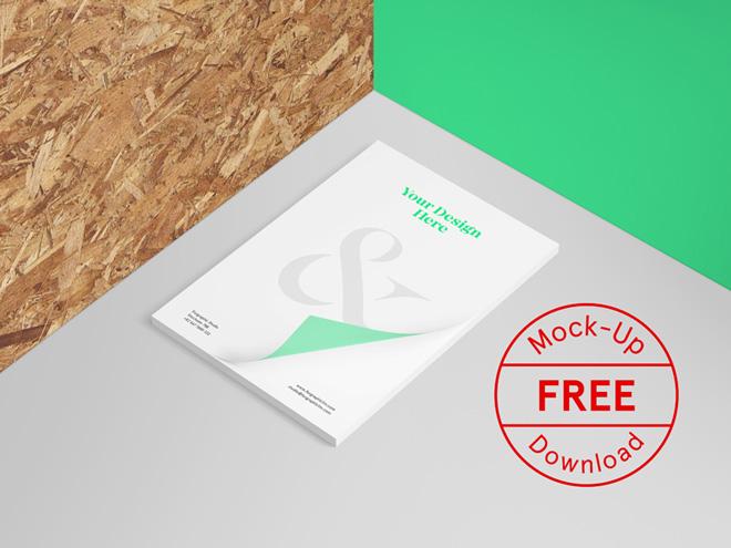 Free Letterhead Mockup PSD Template