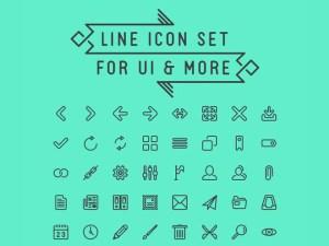 LineIcon : Free Line Icon Set for UI Design