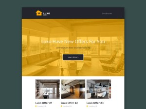 Luxo - Real Estate PSD Email Template