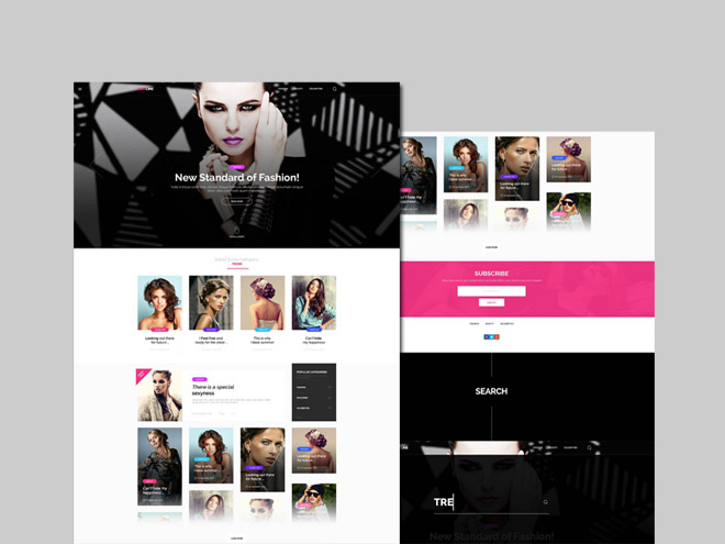 MagLine : Fashion Blog PSD Template