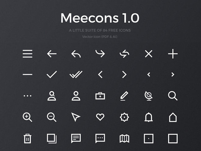 Meecons 1.0 - 84 Free Vector Icons (PDF & AI)