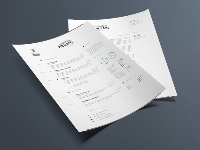Free Minimal Resume Templates (Doc and IDD)