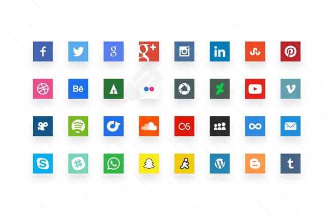 free minimal social media icon