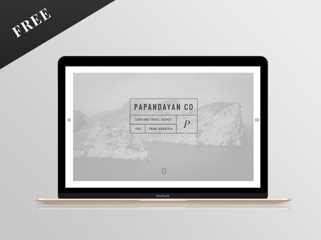 Papandayan : Free One Page Travel PSD Template