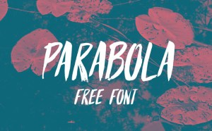 Parabola : Free Brush Style Font